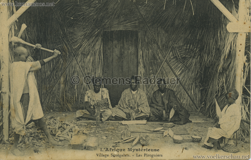1911 L'Afrique Mystérieuse - Jardin d'Acclimatation - Les Piroguiers VS