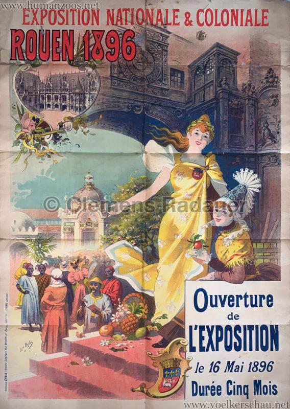 1896 Exposition de Rouen POSTER