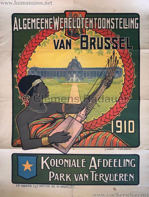 1910 Exposition Universelle de Bruxelles POSTER