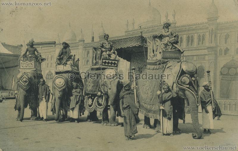 1910:1911:1912 Gustav Hagenbeck's grösste indische Völkerschau der Welt - 4 Elefanten VS