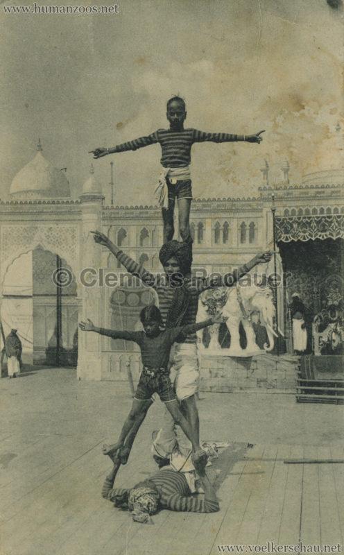 1910:1911:1912 Gustav Hagenbeck's grösste indische Völkerschau der Welt - Akrobaten 1