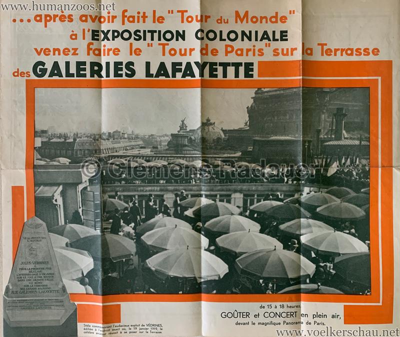 1931 Exposition Coloniale Internationale Paris - Galeries Lafayette POSTER