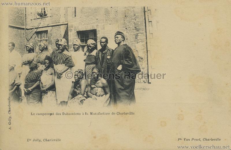 Le campement des Dahomeens a la manufacture de Charleville 1 2