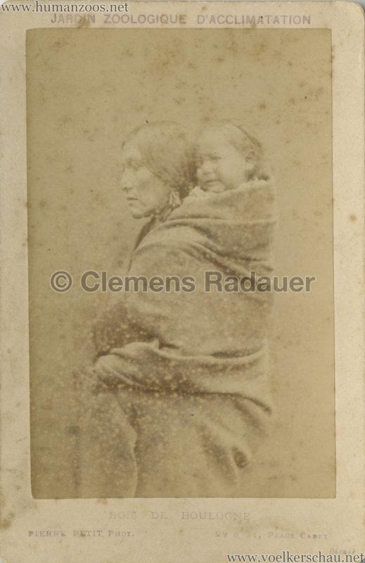 1883 Peaux Rouges Jardin d'Acclimatation CDV 1 Wife of Yellow Smoke