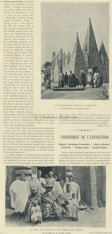 1896.05.15 L'Exposition Nationale Suisse Geneve - Journal Officiel Illustre 17 - Village Noir 2