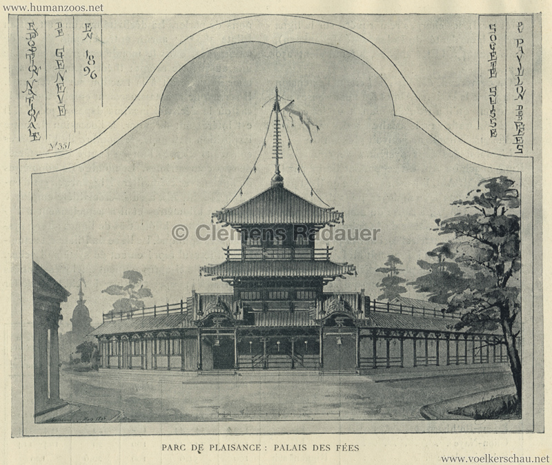 1896.05.29 L'Exposition Nationale Suisse Geneve - Journal Officiel Illustre 19 - Palais des Fees