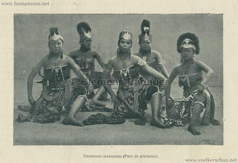 1896.06.05 L'Exposition Nationale Suisse Geneve - Journal Officiel Illustre 20 - Danseuses javanaises