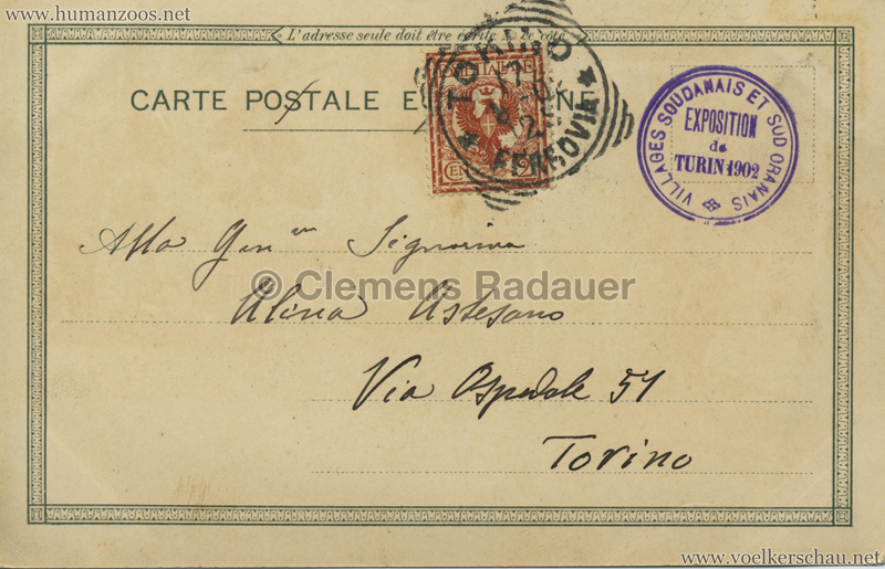 1902 Esposizione di Torino - Villaggi Sudanesi e Sud-Oranesi 10 RS