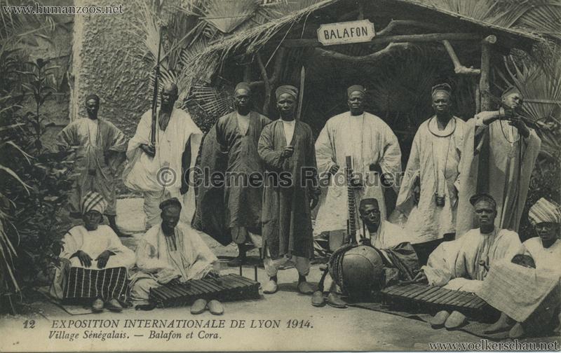 1914 Exposition Coloniale Lyon - Village Sénégalais 12. Balafon et Cora