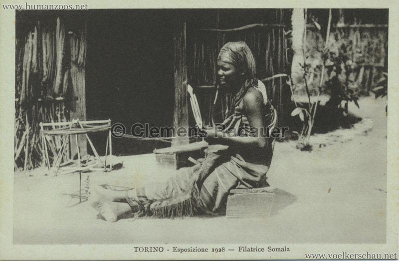 1928 Esposizione Torino - Filatrice Somala