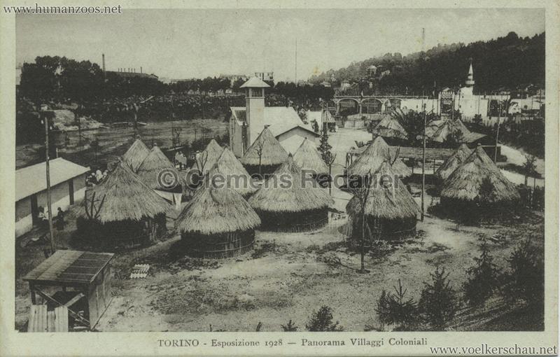 1928 Esposizione Torino - Panorama Villaggi Coloniali