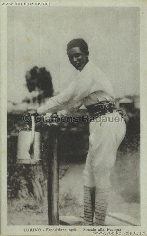 1928 Esposizione Torino - Somalo alla Fontana