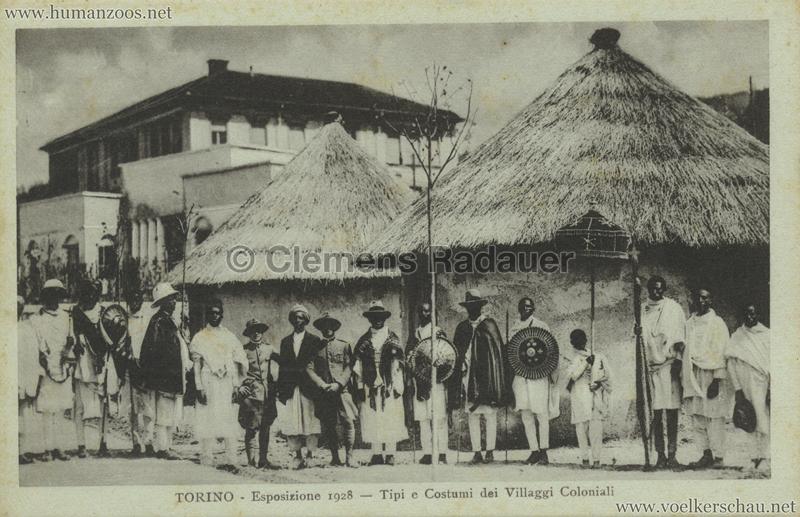 1928 Esposizione Torino - Tipi e Costumi dei Villaggi Coloniali 2