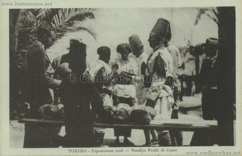 1928 Esposizione Torino - Vendita Frutti di Coco