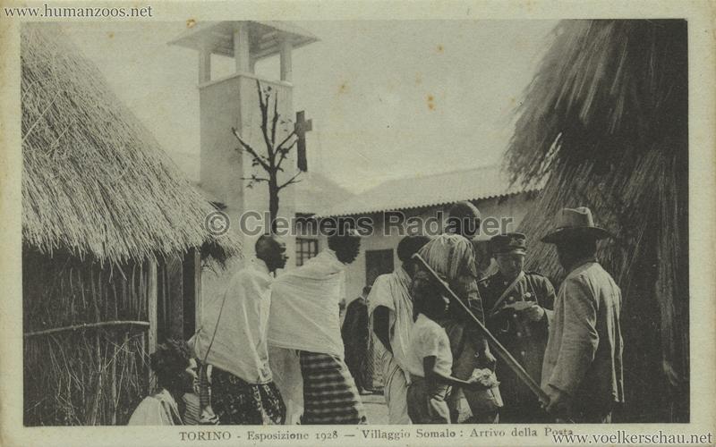 1928 Esposizione Torino - Villaggio Somalo - Arrivo della Posta 2