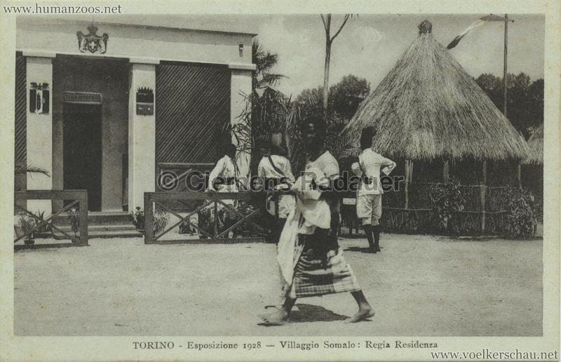 1928 Esposizione Torino - Villaggio Somalo Regia Residenza