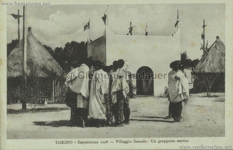 1928 Esposizione Torino - Villaggio Somalo Un gruppetto esotico