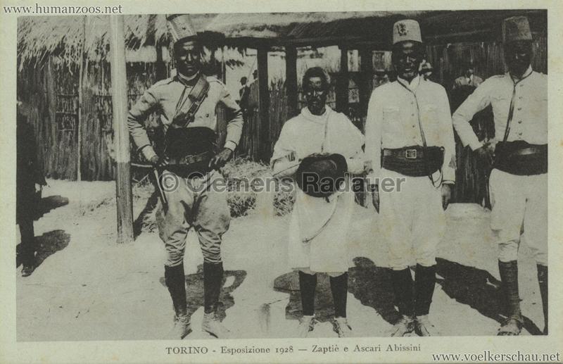 1928 Esposizione Torino - Zaptie e Ascari Abissini