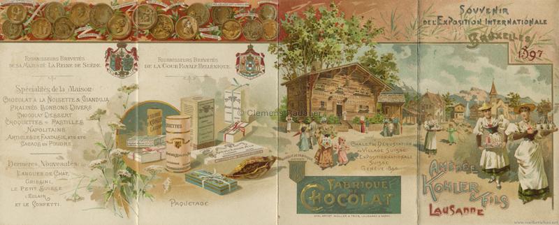 1897 Exposition Internationale Bruxelles - Village Suisse 1