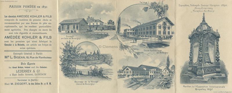 1897 Exposition Internationale Bruxelles - Village Suisse 2