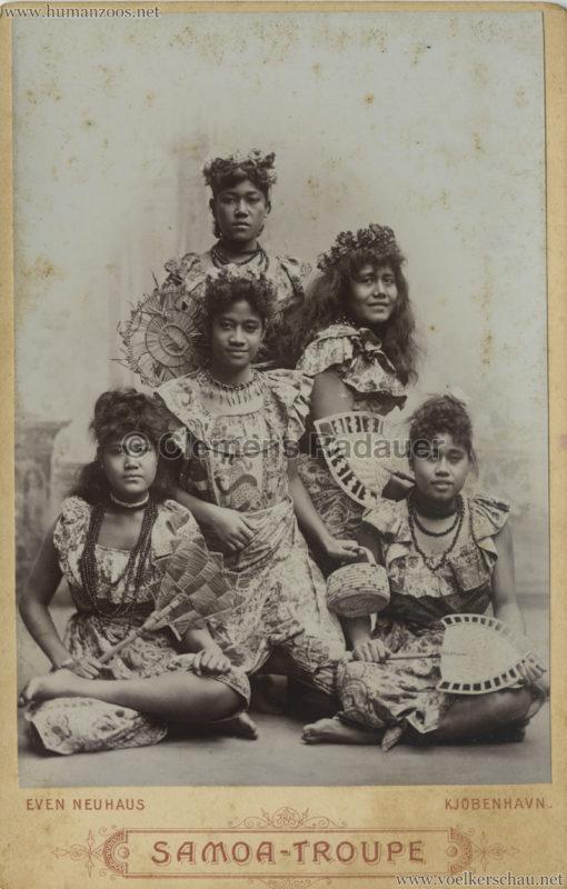 1895:1896 Samoaner-Truppe - CDV 4 VS