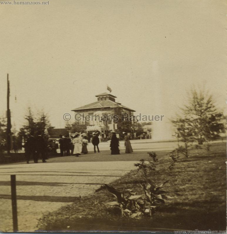 1906 Esposizione a Milano - Fontana davanti al padiglione della Marina FOTO