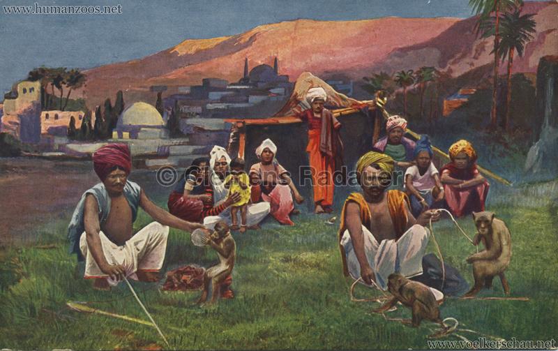 1910:1911:1912 Gustav Hagenbeck's grösste indische Völkerschau der Welt - Affentrainer
