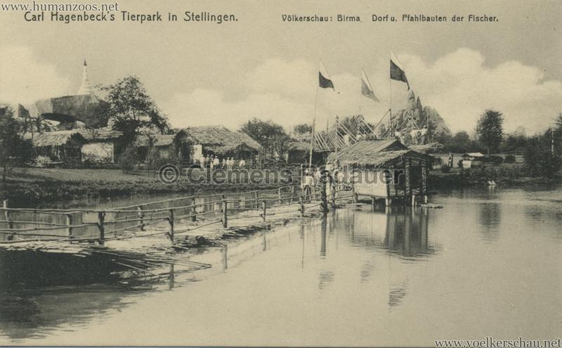 1913 Völkerschau Birma (Hagenbeck) - 1011 Dorf u Pfahlbauten der Fischer