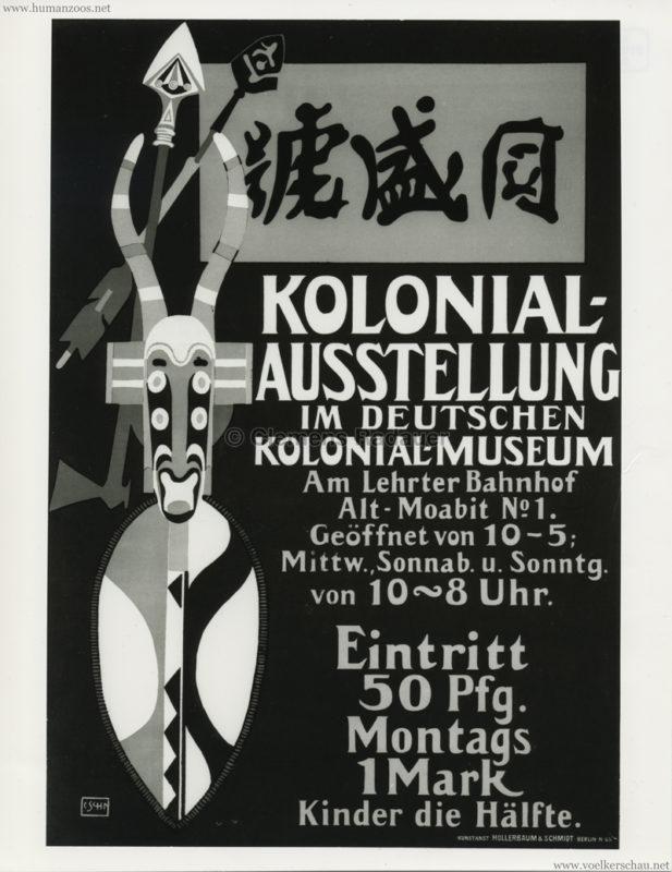 Kolonialausstellung im Deutschen Kolonial-Musuem