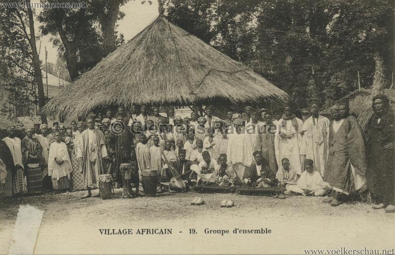 Village Africain - 19. Groupe d'ensemble 1927