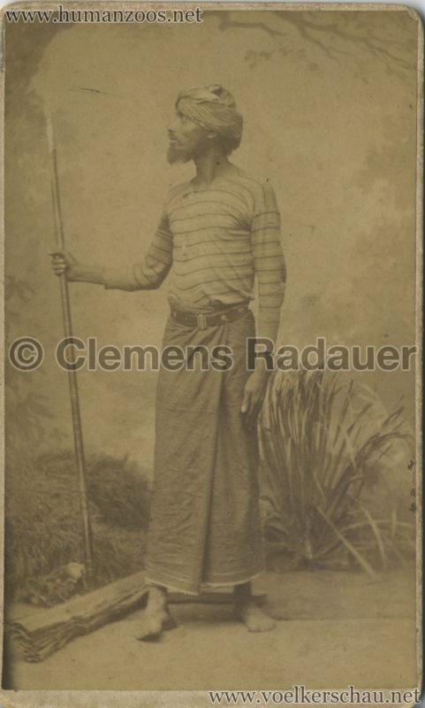 1884:1885 Singhalesen der Hagenbeck'schen Ceylon-Expedition 8
