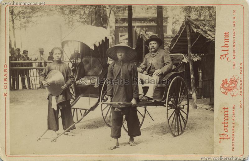1889 Exposition Universelle Paris - Riksha CDV
