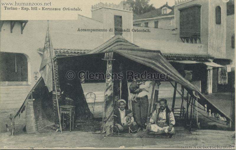 1911 Esposizione di Torino - Kermesse Orientale - Accampamento di Nomadi Orientali VS