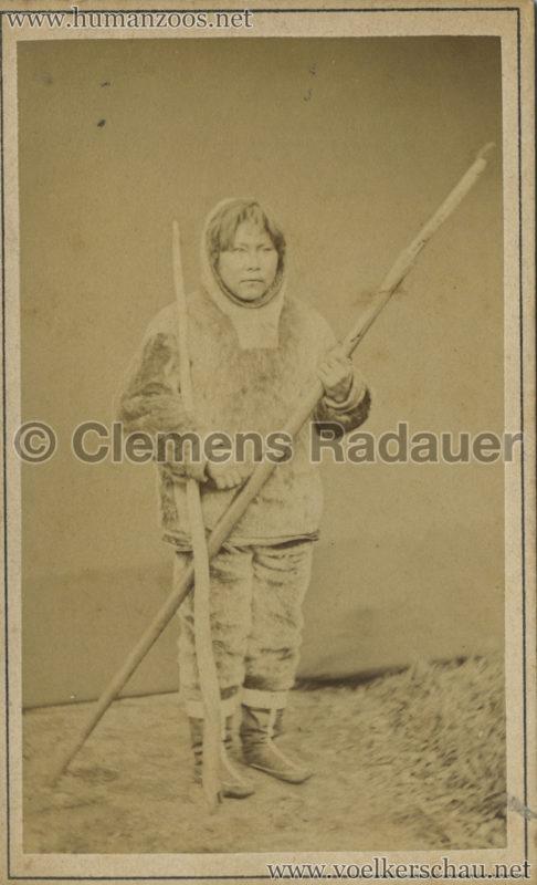 1877:1878 Hagenbeck Eskimo 6 - CDV - Adrian Jacobsen VS