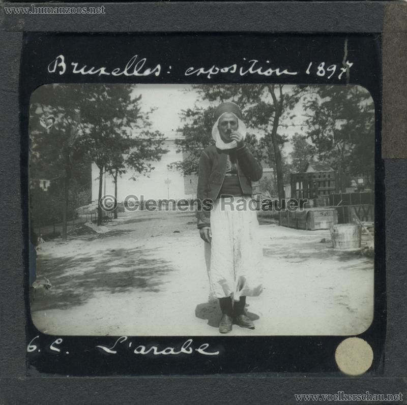 1897 Exposition Internationale de Bruxelles - L'Arabe GLASS MIX