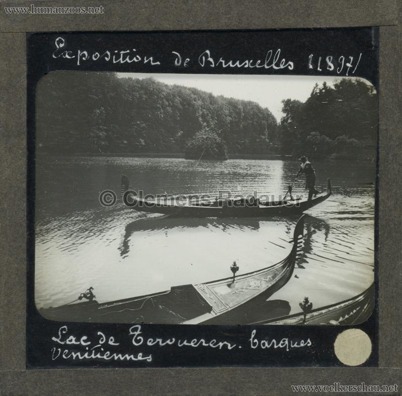 1897 Exposition Internationale de Bruxelles - Lac de Tervueren barques venetiennes GLASS MIX