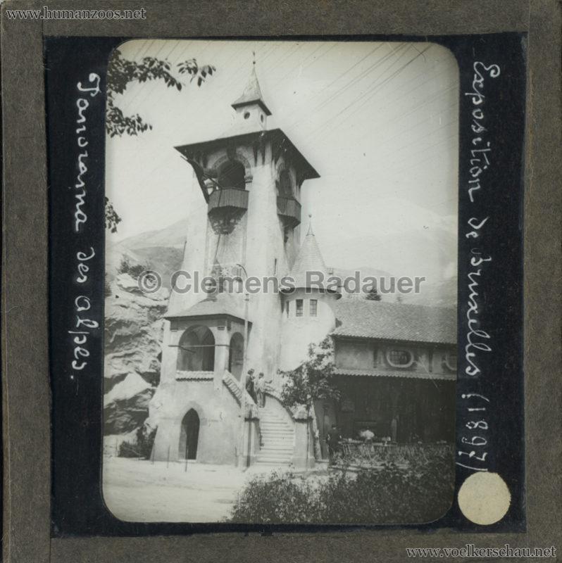 1897 Exposition Internationale de Bruxelles - Panorama des Alpes GLASS MIX