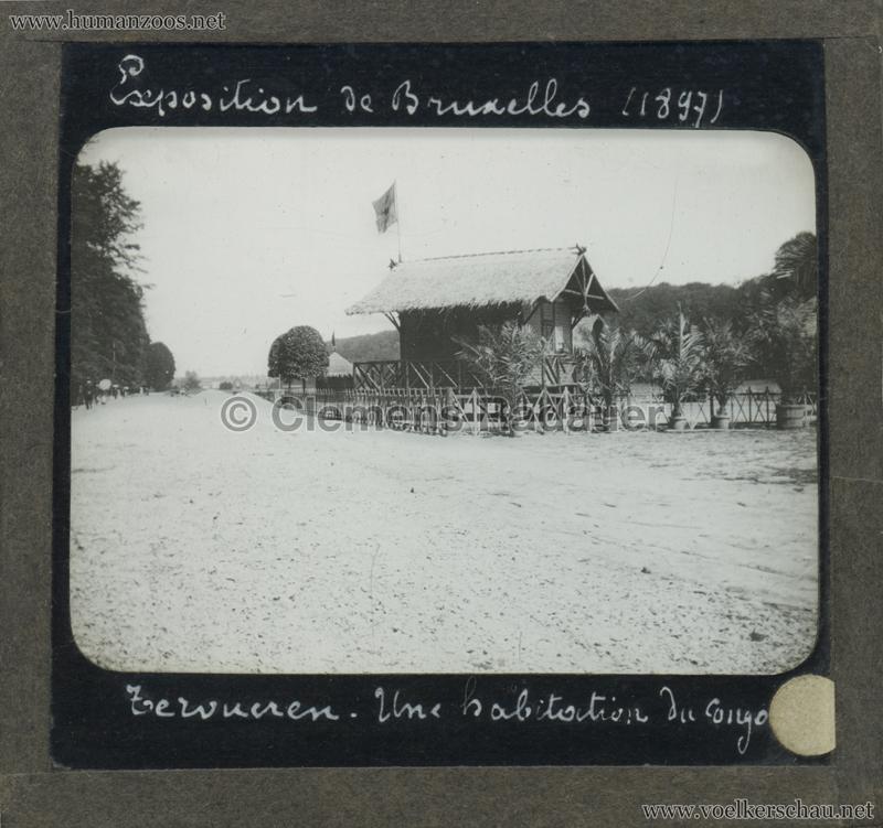 1897 Exposition Internationale de Bruxelles - Tervueren Une habitation du Congo GLASS MIX