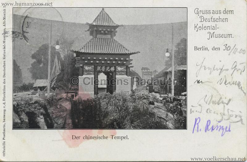 Deutsches Kolonial-Museum - Der Chinesische Tempel