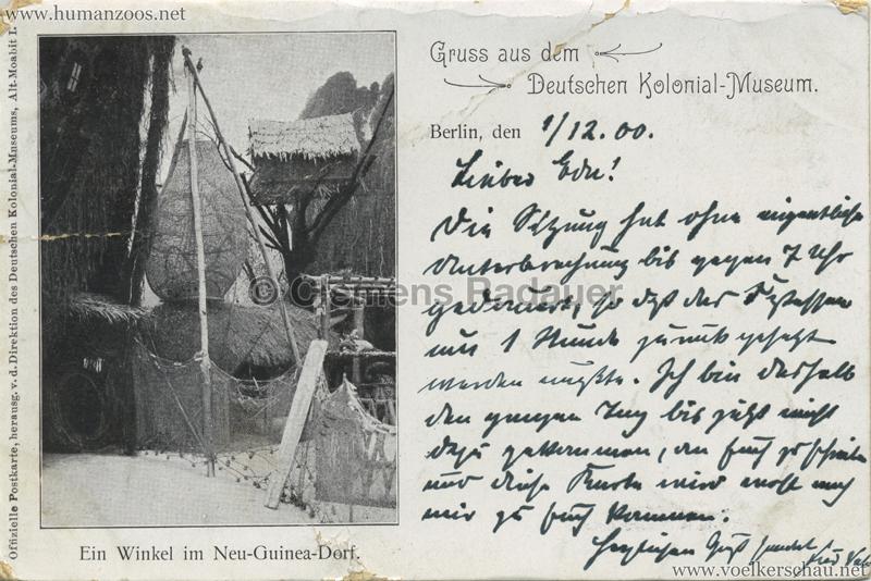 Deutsches Kolonial-Museum - Ein Winkel im Neu-Guinea-Dorf