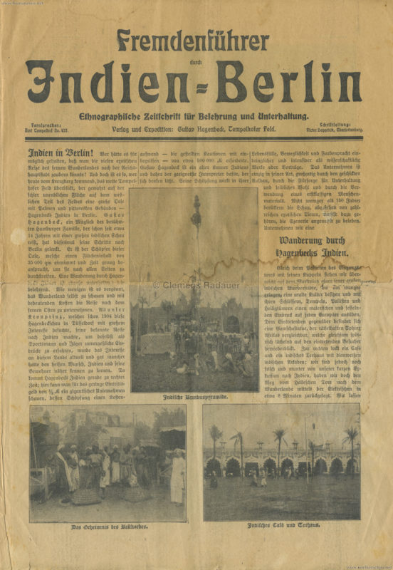1912 Fremdenführer durch Indien in Berlin 1
