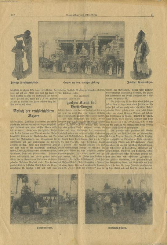 1912 Fremdenführer durch Indien in Berlin 3
