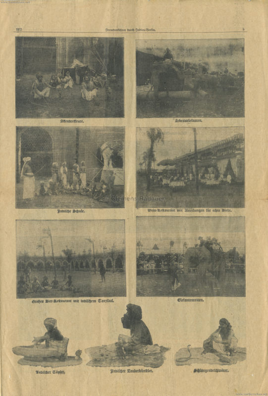 1912 Fremdenführer durch Indien in Berlin 5