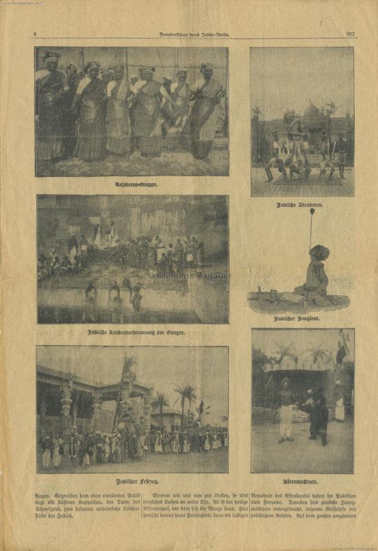1912 Fremdenführer durch Indien in Berlin 6