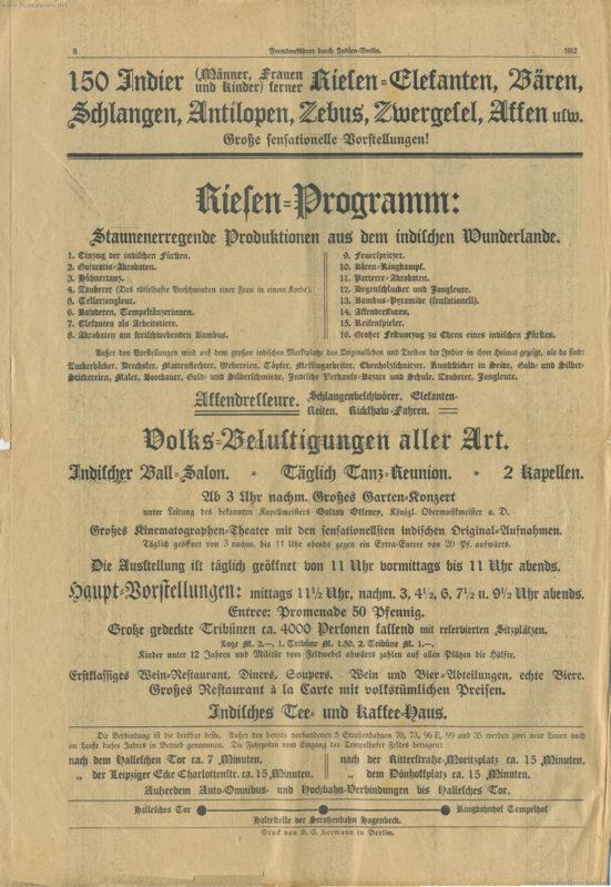 1912 Fremdenführer durch Indien in Berlin 8